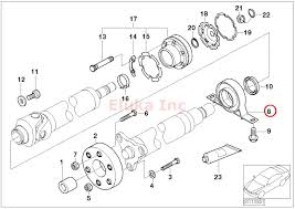 amazon com bmw driveshaft center support with bearing e65 e66