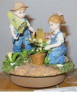 denim days home interior homco figurine denim days 1985 1507 summer harvest mint