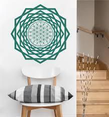 Wall Decals Vinyl Sticker Mandala by Flower Of Life Tunnel Vinyl Wall Decal Mandala Seed Sacred