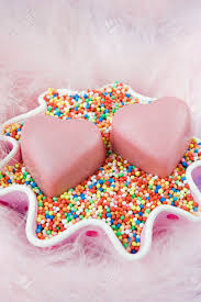 chocolates for s day two pink heart shaped chocolates for