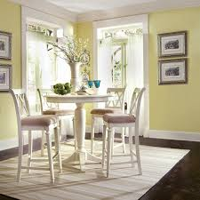 tall white kitchen table american drew camden round pedestal counter height dining table