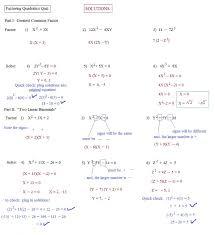 factoring quadratics worksheet fts e info