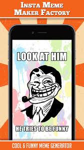 Mobile Meme Maker - insta meme maker factory funny meme generator app report on