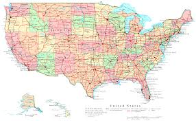 United States Map With Capitals Map America Cities America Map Maps Of The United States At Map