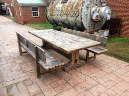 Solid Wood Patio Furniture by Patio Wood And Wrought Iron Furniture Reclaimed Industrial Chic