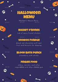 halloween website templates special halloween menus by vector vactory graphicriver