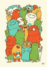 25 monster illustration ideas cute monster