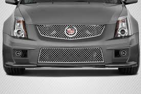 cadillac cts 2010 black carbon fiber fibre front lip add on kit for 2010 cadillac cts