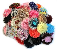 shabby flowers flower hair bows for babies and brides how to make hair bows