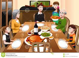 thanksgiving dinner cartoon pics family having a thanksgiving dinner royalty free stock image