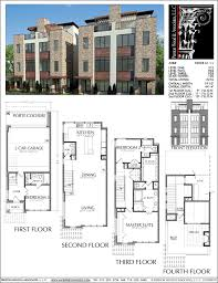 Small Duplex Plans Duplex Townhome Plan E2028 A1 1 Small Modern House Pinterest
