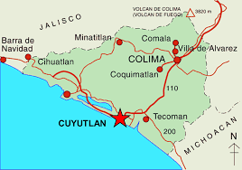 Colima Mexico Map by Candy King Real Estate Properties For Rent