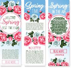 spring holidays floral welcome banner template stock vector art