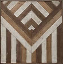 square reclaimed wood wall chevron pattern aztec pattern