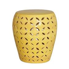 Ceramic Accent Table Fancy Yellow Accent Table With Trellis Ceramic Stools Yellow Small