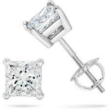diamond earrings sale mahna 925 sterling silver square cz zircon american diamond studs