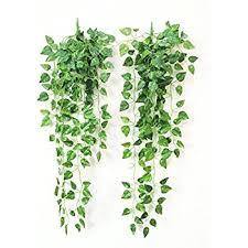 Imitation Plants Home Decoration Amazon Com Atificial Fake Hanging Vine Plant Leaves Garland Home