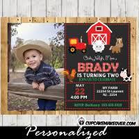 farm birthday invitation barn wood personalized d1