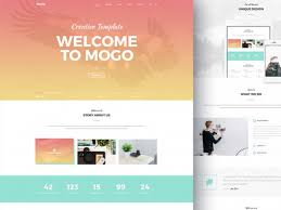 mogo free one page psd template mountain king html bootstrap