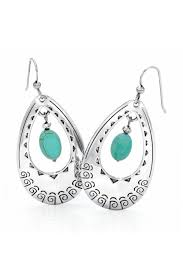 vire earrings santa fe turquoise wire earrings