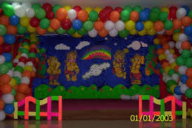Home Balloon Decoration Birthday Stage Decoration Balloons Image Inspiration Of Cake And