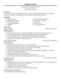 forklift driver resume sample delivery driver resume sample