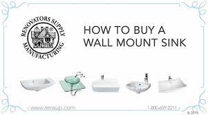 Bathroom Wall Mounted Sinks Bathroom Wall Mount Sinks How To Buy Renovator U0027s Supply Youtube