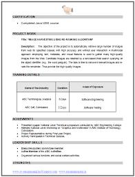 cv format for b e computer science 2 career