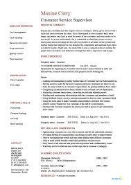 resume for customer service customer service supervisor resume jmckell