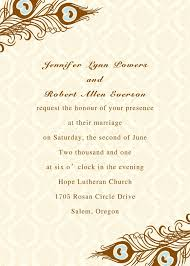 Customized Wedding Invitation Cards Wedding Invitation Card Rectangle Cream Pink Floral And Feather