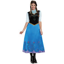 plus size women halloween costume frozen womens plus size deluxe anna traveling gown costume