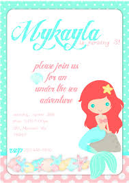8 images mermaid printable invitations mermaid