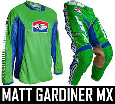 no fear motocross gear jt racing classick motocross mx kit pants jersey green blue retro