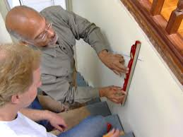 wall mounted height measure how to install a stairway handrail how tos diy