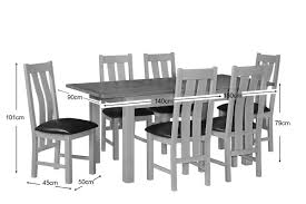 grey painted oak dining table and chairs oak city