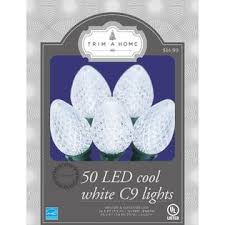 trim a home 50 ct cool white c9 led lights