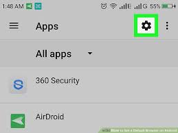 android default browser how to set a default browser on android 5 steps with pictures