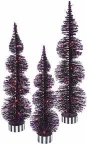 pre lit 100 purple led lights black pvc bottle brush