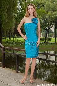 teal bridesmaid dresses cheap turquoise blue one shoulder bridesmaid dresses cheap with knee