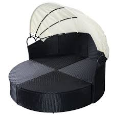 Outdoor Wicker Patio Furniture Round Canopy Bed Daybed - gym equipment outdoor wicker rattan round retractable patio sofa