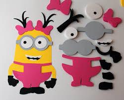 minions die cuts diy kids crafts birthday party games diy