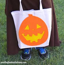 how to make a no sew halloween tote bag meatloaf and melodrama