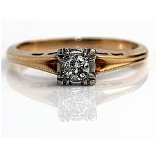 1940s engagement rings 1940 s engagement ring mid century 20ct european cut