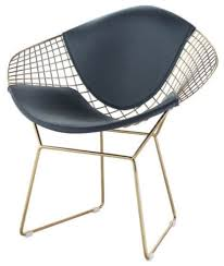 Gold Accent Chair Wire Mesh Diamond Accent Chair In Gold Finish Midcentury