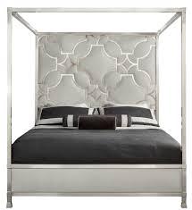 King Bed Upholstered Metal Canopy King Bed Bernhardt