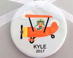 airplane ornaments etsy