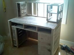 Homemade Wooden Computer Desk by Diy Pallet Computer Desk Pallet Furniture Plans