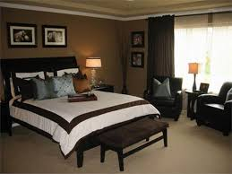 bedroom ideas with black bed dark wood furniture decor paint