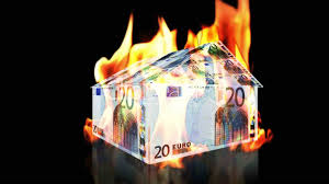 euro house on fire loop royalty free video and stock footage