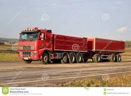 red volvo truck blue volvo truck full trailer stock photos images u0026 pictures